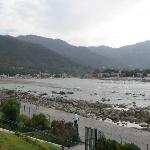 View from Ganga Resort - Left View upstream