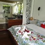 2 BR master bedroom and bathroom