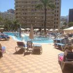 Taken from the far side of the hotel. Very large pool, good for all ages