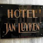 Art Deco hotel sign on street