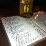 my table number 6 and menu