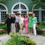 The Great Falls Bookclub Enjoying the Courtyard