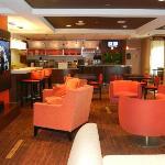 Very inviting lobby/dining area