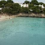 cala d'or beach 5 mins away on foot.