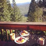 desayuno desde la terraza