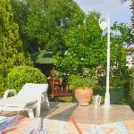 le jardin vue de la piscine