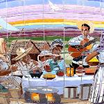 Laredito mural by artist Jesse Trevino