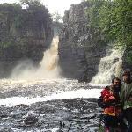 visiting the falls