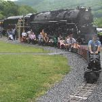 C&O J3a 614 and the large scale steam train Alleghany