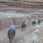 Sunset horse ride in a side canyon of the Paria River Gorge