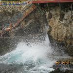 Water splashes up under #1