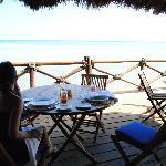Por desayunar con vista al mar