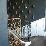 Hallway with scarab installment