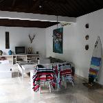 main living area in Villa 1