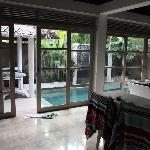 looking out towards the plunge pool