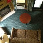 View From Up Stairs In Cabin
