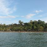 Drake Bay, as we are arriving by Boat