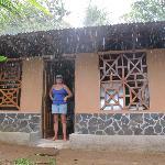 Jamie is happy about the rain, since it doesn`t rain very often in the dry season
