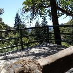 Deck to view scenery and falls underneath