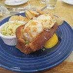 Fresh tombo tuna and Monterey Jack melt