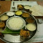 Mouth watering south indian veg thali