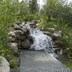platform to walk right up to a small waterfall