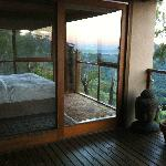The bedroom with a 180 deg view