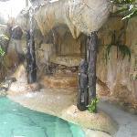 La piscine à cascade