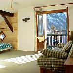 Quad room with Mont Blanc views
