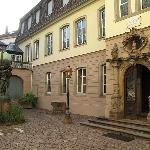 Cour du musée Bartholdi à Colmar