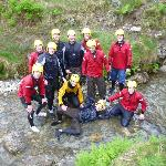 More smiling faces after completing the Ghyll Scrambling!