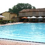 Pool/terrace from Cascina Boschi
