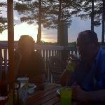 sunset at Cyndi's dockside