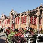 Vue extérieure du marché couvert de Colmar