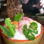 the cheapskate sashimi (yep that's us)  - excellent, what a waste of ice