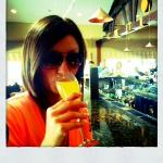 Sippin on a fresh mimosa at the bar