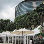terrace of restaurant at Yang Ming shan university