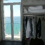 View looking out from rm 14. There was 1 chair on balcony