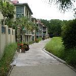 Walkway to pool and gym.