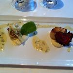 smoked scallops with coliflower purée