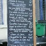 The menu .. .. ENJOY !!