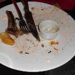 Rib eye steak...After!