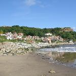 Runswick Bay. Cliffemount is right on the top of hill to the left...fantastic views!