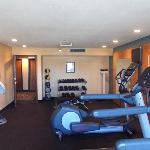 Fitness Workout Room with clean towels.