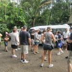 At the start of the tour at Luwak/Spice
