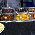 best Sunday buffet: curries, stew veggies
