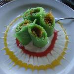 Lotus SeaView: Dadar Gulung Pisang (Rolled Banana Crepes w/Palm Sugar & Grated Coconut)