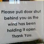 Shut Door Sign