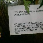 Pet Restriction Sign