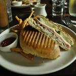Cuban Sandwich for lunch, Pom frittes were excellent